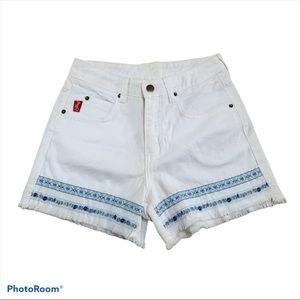 Vtg Outlaw white Cutoff shorts sz 7 vintage 26 in